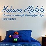Sticker mural Motif Hakuna Matata fondest Memories, noir, Medium 90cm x 28cm