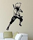 Sticker mural Naruto–Kakashi Hatake, Vinyle, noir, S