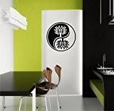 Sticker mural Yin Yang Yin coton caractères dans 33couleurs mat ou brillant autocollants Mandala Yoga Sticker mural 60cm - Rose ...