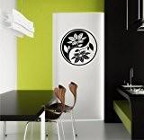 Sticker mural Yin Yang Yin Lotus Lotus Fleur caractères dans 33couleurs mat ou brillant autocollants Mandala Yoga Sticker mural 60cm ...