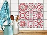 Stickers mosaïques muraux | Film adhésif décoratif carreaux - Renouveler salle d'eau | Design Strawberry Cheese Tile | 20x20 cm ...