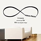 Stickers muraux Hakuna Matata Infinity cela signifie pas de soucis pour le reste de vos jours Home Sticker vinyle kids ...