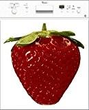 Stickersnews - Magnet lave vaisselle déco fraise 60x60cm réf 048