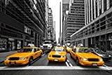 Stickersnews - Stickers autocollant ou Affiche poster Taxis New York CV_00151 Stickers/Affiche - Stickers autocollant, Dimensions - 29,7x42 cm (A3)