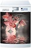 Stickersnews - Stickers lave vaisselle ou magnet Orchidée 5515 Dimensions - 60x60cm
