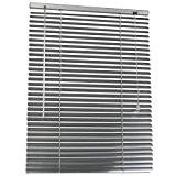 Store vénitien en aluminium Argenté – longueur ajustable par retrait de lamelles 60 x 160 cm DIVERSES TAILLES AU CHOIX