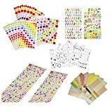 Super44day Stickers Autocollants Déco Set Mignon Coloré Autocollant Adhésif Sticker Scrapbook pour Enfants pour Artisanat, Scrapbooks, Création de Carte,