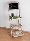 Support de décoration vintage comme Tableau mémo ou aussi pour fleurs ou herbes avec ardoise