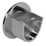Support naissance pour tringle en acier D28 (la paire) - Nickel mat