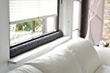 SW boudin de fenêtre 100 %  laine vierge anthracite 100 x 10 x 5 cm