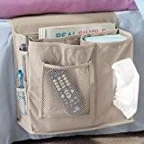 Table de chevet 6poches sac de rangement accrocher articles divers, Magazines, Téléphone, support organiseur tissus Matelas livre Télécommande pour boîte ...