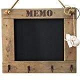 Tableau Noir Mémo Shabby Chic Avec Crochets ~ 30 cm X 26 cm