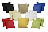 Taie d'oreiller en coton 40 x 40 cm-lot de 2, Coton, rouge, 40 x 40 cm