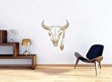 Taille Ox crâne Stickers muraux: 600x520 murale mm_d, stickers muraux, stickers muraux de décoration pour le salon, chambre à coucher ...