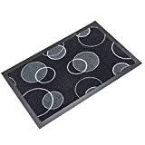 Tapis absorbant noir et gris 40x60cm