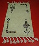 Tapis Amazigh Beni ourain Tapisserie 100% laine Poil Long africain orientale maroc ethnique