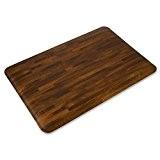 Tapis anti fatigue casa pura® coloris bois naturel | confort maximum cuisine, salon, garage etc. | Qualité professionnelle - 50x76cm