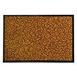 Tapis anti-poussière décoratif casa pura® jaune | absorbant, antidérapant | 4 couleurs, 3 tailles | Brasil, 60x90cm