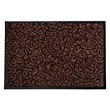 Tapis anti-poussière décoratif casa pura® marron | absorbant, antidérapant | 4 couleurs, 3 tailles | Brasil, 90x150cm