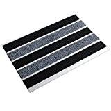 Tapis brosse entrée casa pura® Select Mat Ribbed en profilé d'aluminium | finition Reps + caoutchouc | effet nettoyant élevé ...
