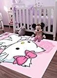 Tapis chambre fille PRETTY CHARMMY KITTY Tapis Enfants par Hello Kitty