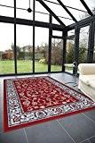 Tapis classique pas cher design Oriental/persan tapis salon ROYAL SHIRAZ 2079-RED 200 ROND