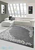 Tapis contemporain design Tapis Oriental avec tapis Glitzergarn salon avec motif floral Heather gris crème Größe 200x280 cm
