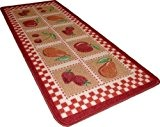 Tapis cuisine 50x120cm model rouge