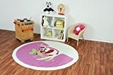 Tapis d'enfant Kiddy Brilliant Hibou rond rose, Türkei_Ayyildiz_Kiddy_Brilliant_Rund:120 cm rund