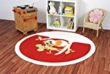 Tapis d'enfant Kiddy Brilliant Hibou rond rouge, Türkei_Ayyildiz_Kiddy_Brilliant_Rund:120 cm rund