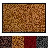 Tapis d'entrée absorbant etm® anti salissure | antidérapant | idéal maison, cuisine, salon | tailles et couleurs au choix | ...
