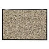Tapis d'entrée casa pura® beige-noir | très absorbant + lavable | plusieurs tailles au choix - 90x120cm