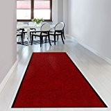 Tapis d'entrée casa pura® rouge-noir | paillasson au mètre | grand choix de tailles | très absorbant + lavable | ...