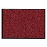 Tapis d'entrée casa pura® rouge-noir | très absorbant + lavable | plusieurs tailles au choix - 135x200cm