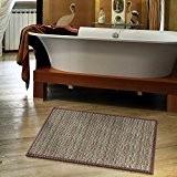Tapis de bain bambou casa pura® hypoallergénique | antidérapant sortie de douche | couleur marron, 50x80cm