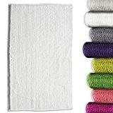 Tapis de bain chenille blanc casa pura® antidérapant et absorbant | 8 couleurs disponibles -50x80cm