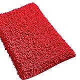 Tapis de bain Chenille PURE - Rouge 50x80