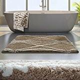 Tapis de bain de luxe casa pura® Beige et ivoire | très épais, doux, ultra absorbant et antidérapant | tailles ...