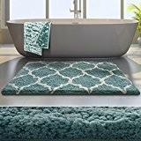 Tapis de bain de luxe casa pura® Bleu | très épais, doux, ultra absorbant et antidérapant | tailles au choix ...