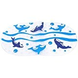 Tapis de Bain Demarkt Monde de la Mer Antidérapant Tapis de Baignoire Antidérapant pour les Bébés pour Salle de Bain