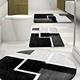 Tapis de bain Eric certifié Oeko-Tex 100 et lavable   poil très doux   plusieurs tailles au choix - 60x100cm