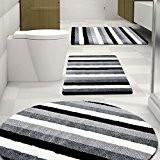 Tapis de bain Léon certifié Oeko-Tex 100 et lavable | poil très doux | plusieurs tailles au choix - 95cm ...