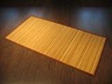 Tapis de bambou 160 x 230 cm en bambou tapis - largeur 17mm bambou!