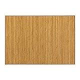 Tapis de bambou du couleur de la bois naturel
