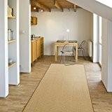 Tapis de couloir sur mesure casa pura® Salvador | tissé en fibres naturelles 100% sisal | 11 couleurs | antidérapant ...