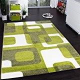 Tapis De Créateur De Style Rétro En Vert Blanc Gris Super Qualité à Petit Prix, Dimension:120x170 cm