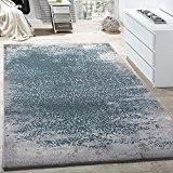 Tapis De Créateur Moderne Tapis De Salon Avec Motif Décorations Gris Bleu, Dimension:200x290 cm