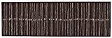 Tapis de cuisine lignes, ligné, lavable, en 2couleurs et 2tailles, marron, 57x140 cm