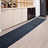 Tapis de passage casa pura® PRIMAVERA Anthracite | pour cuisine, couloir, entrée | poids du poil env. 1150 g par ...