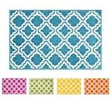Tapis de petit tapis paillasson bien tissé moderne pour chambre de Tapis de cuisine Calipso 50x 80cm Treillis treillis géométrique ...